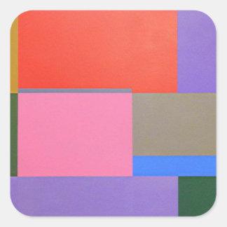 Adesivo Quadrado Arte moderna/Mondrian