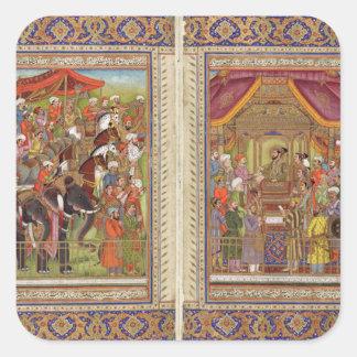 Adesivo Quadrado Arte muçulmana islâmica de Boho do Islão de India