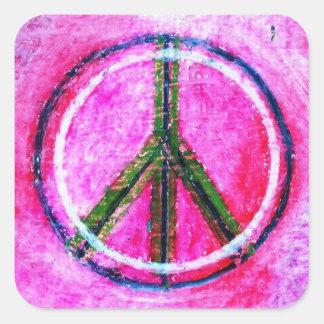 Adesivo Quadrado … arte original da paz… por healingcolors…