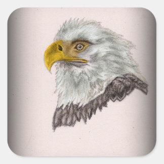 Adesivo Quadrado Arte patriótica da águia americana americana