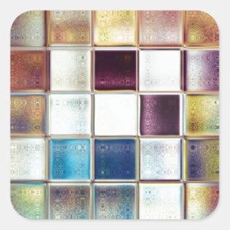 Adesivo Quadrado Arte tropical do azulejo de mosaico das memórias