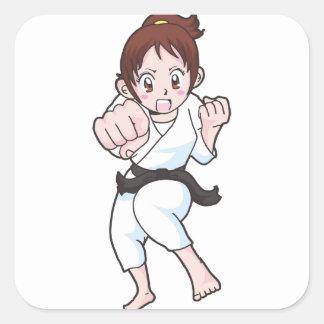 Adesivo Quadrado Artes marciais