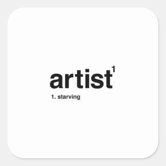 Adesivo Quadrado artista