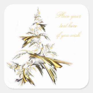 Adesivo Quadrado Árvore de Natal no branco 001