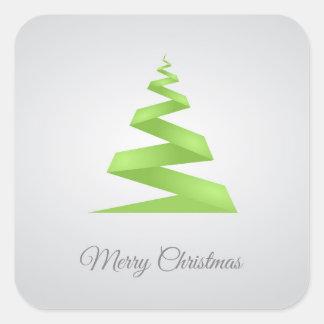 Adesivo Quadrado Árvore de Natal simples da fita do Natal