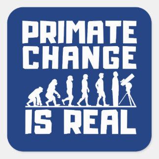 Adesivo Quadrado As alterações climáticas engraçadas do primata da