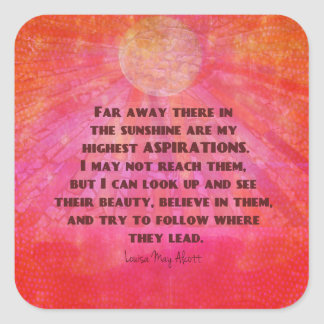 Adesivo Quadrado As citações as mais altas Louisa das aspirações