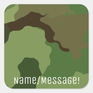 Adesivo Quadrado As forças armadas tradicionais camuflam