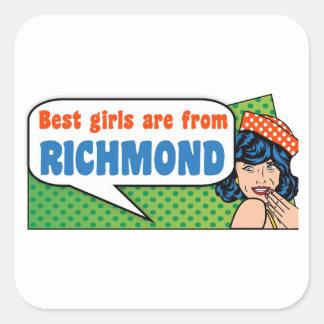 Adesivo Quadrado As melhores meninas são de Richmond