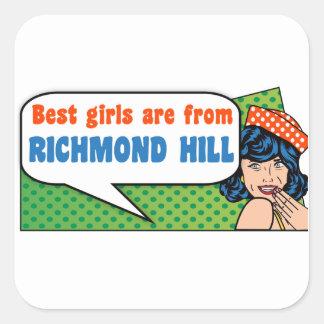 Adesivo Quadrado As melhores meninas são do monte de Richmond
