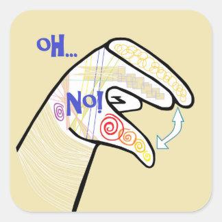 Adesivo Quadrado ASL oh NENHUM