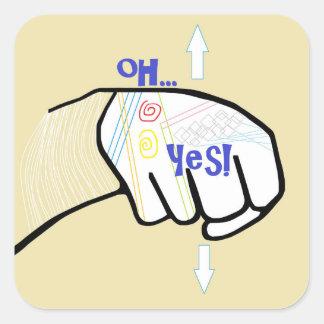 Adesivo Quadrado ASL oh SIM