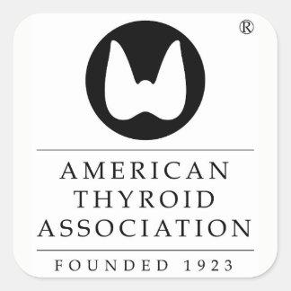 Adesivo Quadrado Associação americana do tiróide