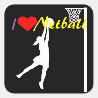 Adesivo Quadrado Atirador do objetivo eu amo o Netball