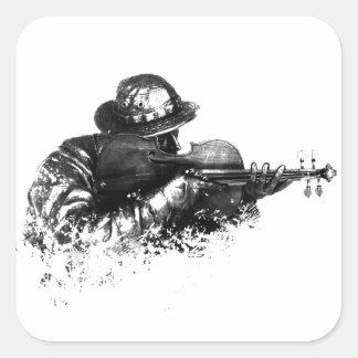 Adesivo Quadrado atirador furtivo do violino
