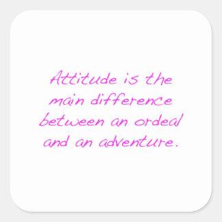 Adesivo Quadrado Atitude - calvário ou aventura