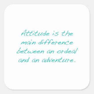 Adesivo Quadrado Atitude -- calvário ou aventura (verde)