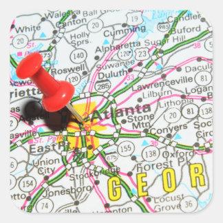 Adesivo Quadrado Atlanta, Geórgia
