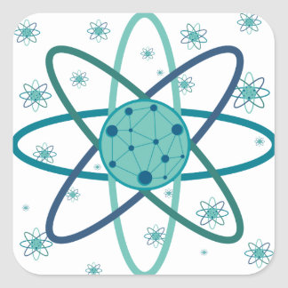 Adesivo Quadrado Átomo