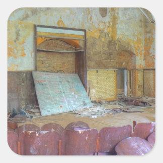 Adesivo Quadrado Auditório 01,0, lugares perdidos, Beelitz