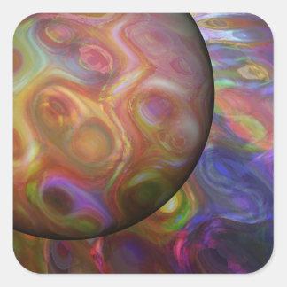Adesivo Quadrado Aumentação de Saturn