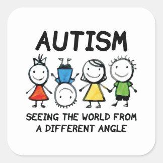 Adesivo Quadrado Autismo