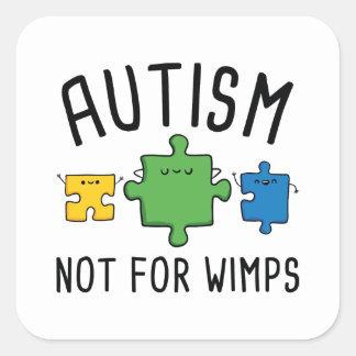 Adesivo Quadrado Autismo não para Wimps