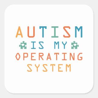 Adesivo Quadrado Autismo sistema operativo