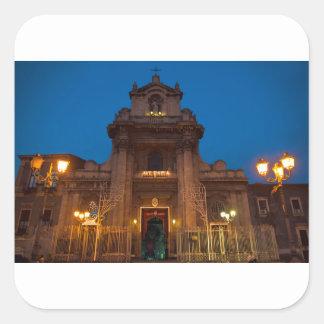 Adesivo Quadrado Ave Maria Church em Catania