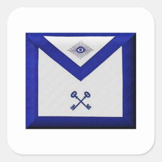 Adesivo Quadrado Avental maçónico do tesoureiro