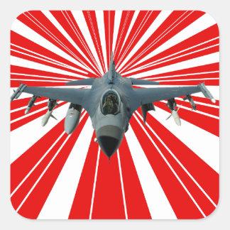 Adesivo Quadrado Avião de combate