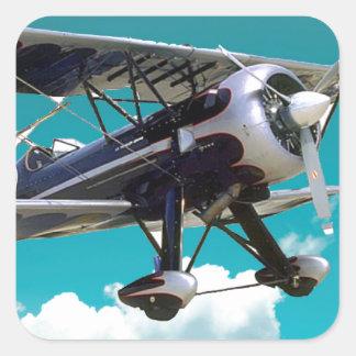 Adesivo Quadrado Avião velho