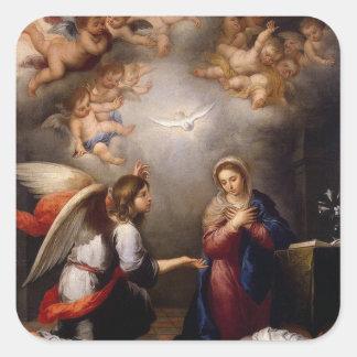 Adesivo Quadrado Aviso do anjo Gabriel de Mary