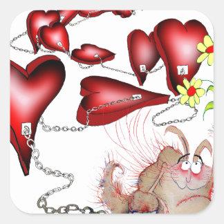Adesivo Quadrado azarado no amor, fernandes tony