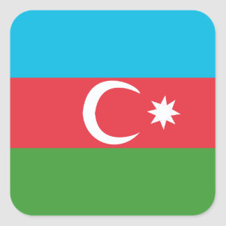 Adesivo Quadrado Azerbaijao