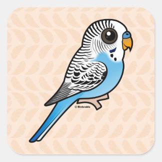 Adesivo Quadrado Azul de Birdorable Budgie