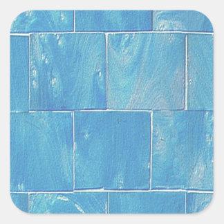 Adesivo Quadrado Azulejo azul legal