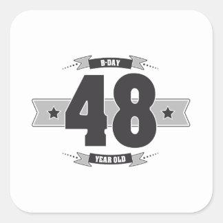 Adesivo Quadrado B-dia 48 (Dark&Lightgrey)