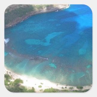 Adesivo Quadrado Baía Havaí de Hanauma