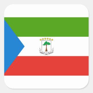 Adesivo Quadrado Baixo custo! Bandeira da Guiné Equatorial