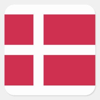 Adesivo Quadrado Baixo custo! Bandeira de Dinamarca