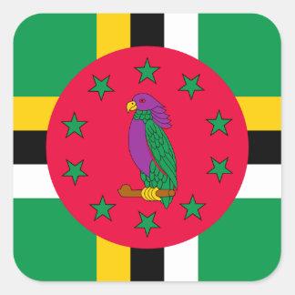 Adesivo Quadrado Baixo custo! Bandeira de Dominica