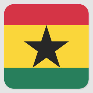 Adesivo Quadrado Baixo custo! Bandeira de Ghana