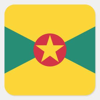 Adesivo Quadrado Baixo custo! Bandeira de Grenada