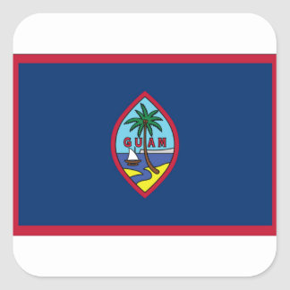 Adesivo Quadrado Baixo custo! Bandeira de Guam