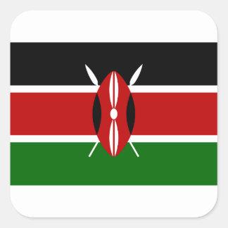 Adesivo Quadrado Baixo custo! Bandeira de Kenya