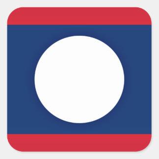 Adesivo Quadrado Baixo custo! Bandeira de Laos