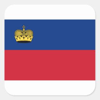 Adesivo Quadrado Baixo custo! Bandeira de Liechtenstein