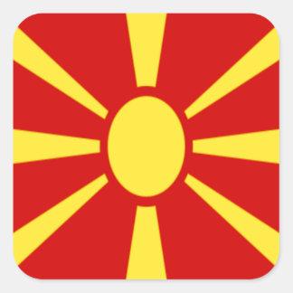 Adesivo Quadrado Baixo custo! Bandeira de Macedónia