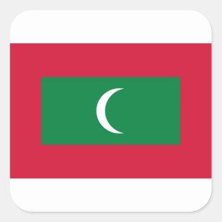 Adesivo Quadrado Baixo custo! Bandeira de Maldives